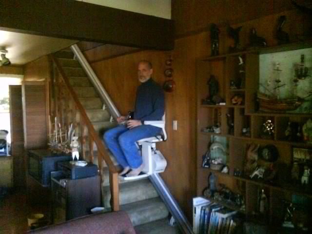 dad fixed the chair lift